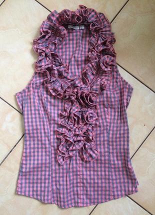 Літня блуза/топ з рюшами р.m