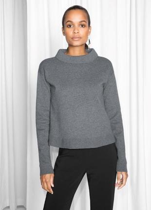 Серый джемпер, свитер, кофта & other stories