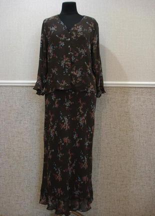 Летний элегантный  облегающее юбочный костюм большого размера 18(xxxl)