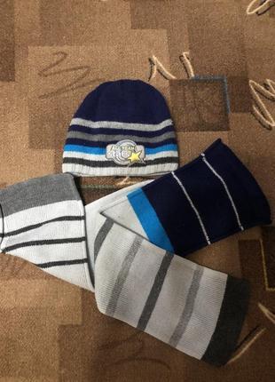 Теплый комплект,набор шапка шарфик