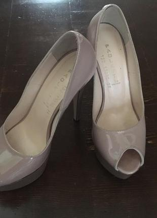 Туфли на шпильке, туфли на каблуке, женские туфли,бежевые туфли