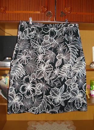42 р. шикарная фирменная котоновая юбка authentic
