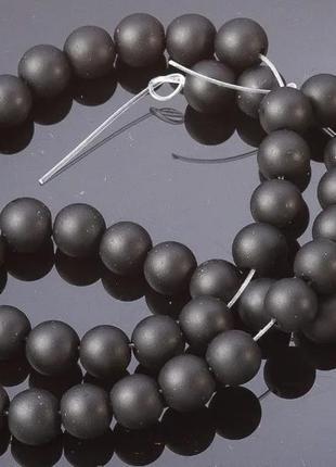 Нить для рукоделия бусины натуральный камень шунгит