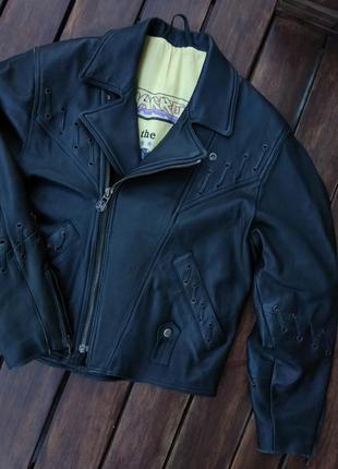 Винтажная байкерская куртка harro