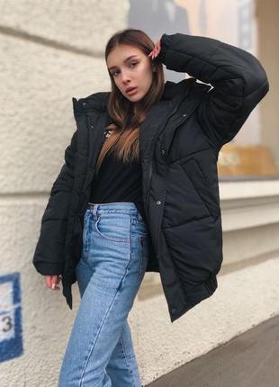 Курточка оверсайз на зиму❤❄куртка зимняя