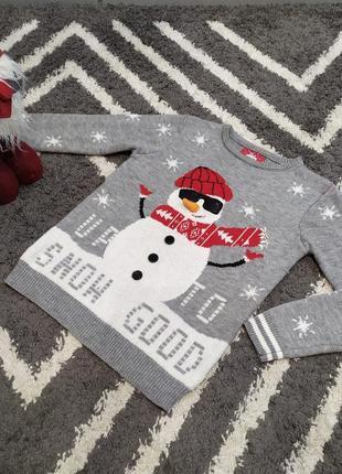 Тёплый свитерок с весёлым снеговиком primark