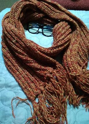 Зимний объемный шарф 🍁