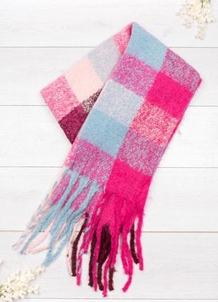 Теплый шарф плед
