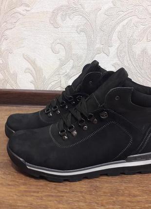 Мужские зимние ботинки нубук /р. 40-46