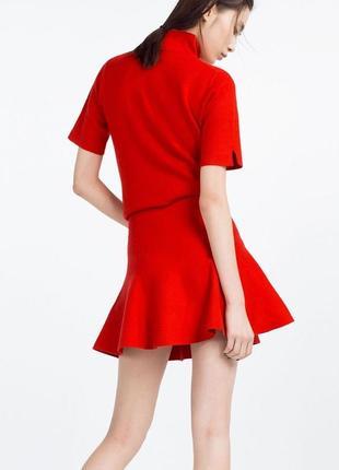 Красная мини юбка zara