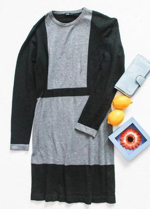 Теплое трикотажное платье от iwie, размер s