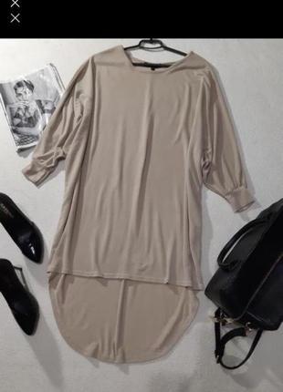 Стильное трендовое платье оверсайз