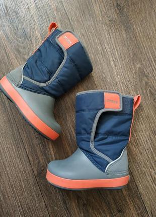 Сапиги crocs оригинал, снегоходы, кроксы, деми ботиночки,
