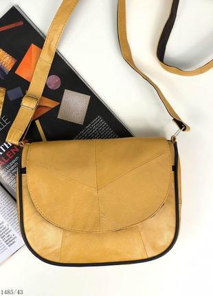 Стильный кожаный клатч сумочка