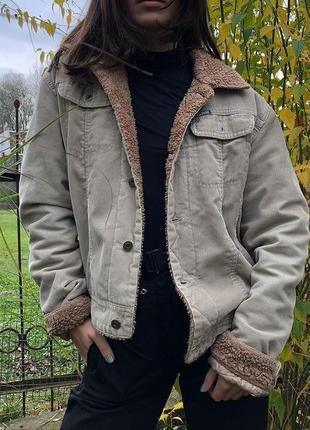 Вельветовая джинсовка куртка sherpa diesel мужской с
