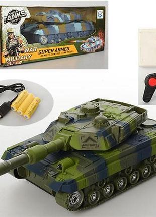 Боевой детский танк на пульте радиоуправлении синий tank 25см