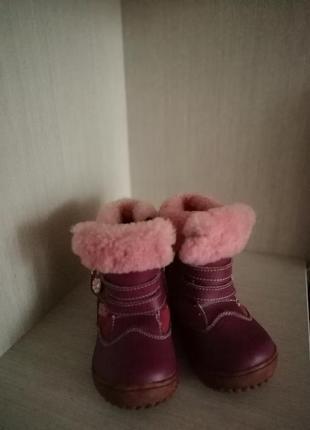 Зимние ботинки для девочки 24 р.