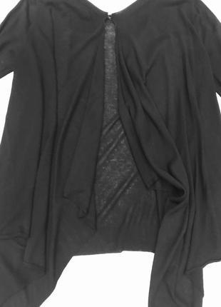Чёрный свитер с открытой спиной zara