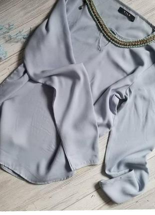 Блуза vila нежно-голубого цвета