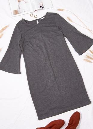 Классическое платье с расклешенными рукавами, трикотажное платье с клешем, плаття, сукня