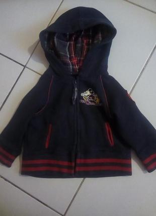 Утепленный свитер на мальчика 1 годик