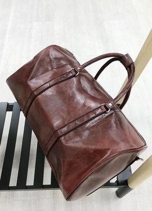 Супер цена! дорожная сумка саквояж из эко кожи ручная кладь / дорожня сумка саквояж