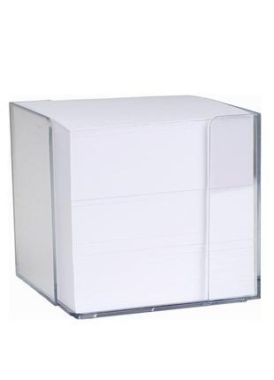 Бумага для рисунков, скетчей, заметок в настольном диспенсере - белая