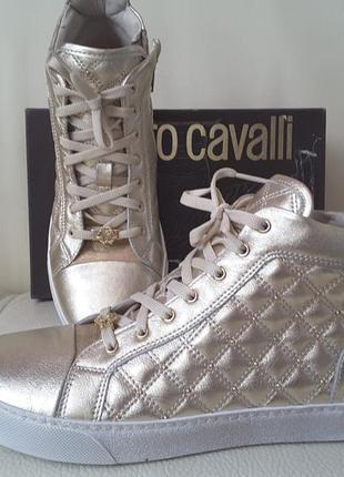Кросовки слипоны мокасины roberto cavalli оригинал италия