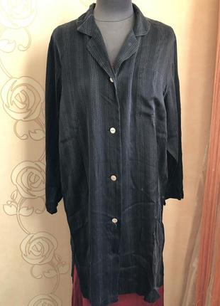 Практичная шелковая домашняя пижама ночнушка платье халат, натуральный шелк