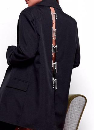 Пиджак с бахромой