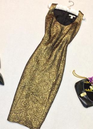 Міді плаття із золотистим люрексом bandolera/ миди платье