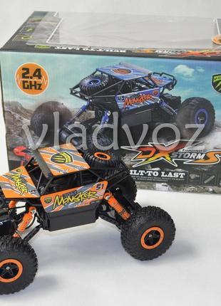 Джип на радио управлении машинка внедорожник модель rock crawler оранжевый 1:18 2542-3