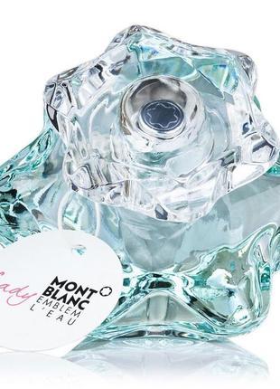 Туалетная вода mont blanc lady emblem l´eau,оригинал, отливант, распив, остаток во флаконе