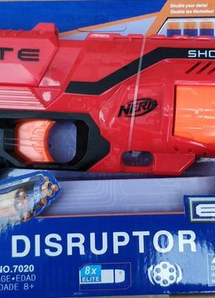 Бластер детское оружие пистолет нёрф nerf disruptor красный