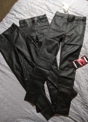 Спешим!! брюки- лосины матовая екокожа  на флисе 🍁- 29 р