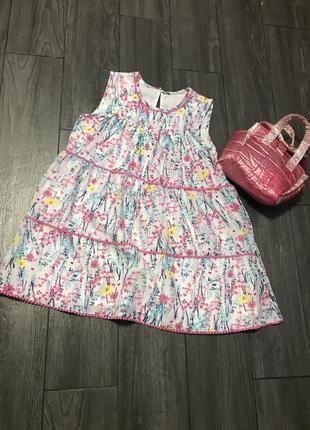 Нежное шифоновое платье на девочку 9-10-11л оверсайз