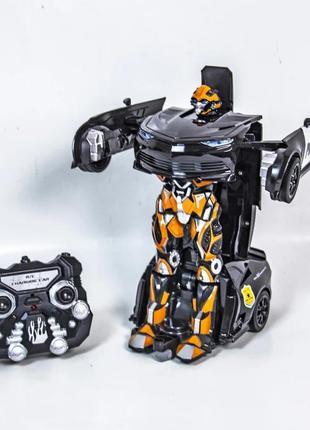 Робот трансформер машинка полиция на пульте радио р/у управления