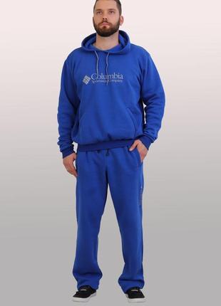 Мужской утепленный спортивный костюм из трикотажа тринитка с начесом (3395)