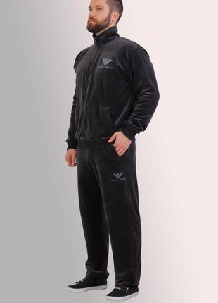 Мужской спортивный костюм из турецкого велюра (4495)