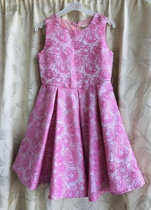 Нарядное красивое платье glory jeans 7/8 128cm