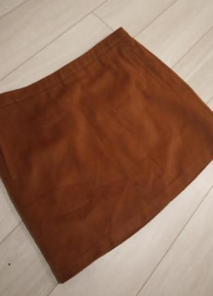 Актуальная теплая юбка трапеция на подкладке