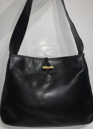 Франция! кожаная фирменная сумочка на плечо logchamp.
