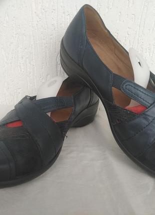 Туфли кожанние hotter comfort concept  р.37.5