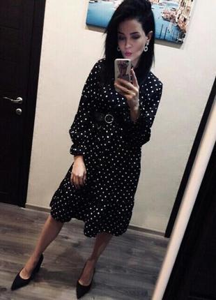 Платье в белый горох горошек сукня в горохи платья в горошок6 фото