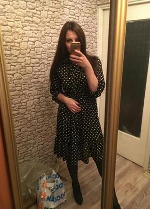 Платье в белый горох горошек сукня в горохи платья в горошок8 фото
