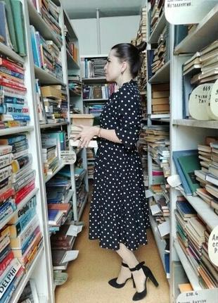 Платье в белый горох горошек сукня в горохи платья в горошок9 фото
