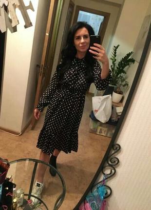 Платье в белый горох горошек сукня в горохи платья в горошок10 фото