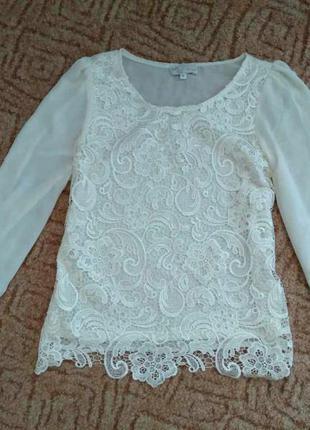 Кружевная блуза\ мереживна блуза\ блуза с кружевом