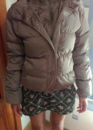 Пуховая куртка очень теплая