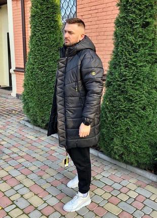 Куртка мужская теплая черного цвета